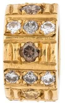Charm 18K Diamond Rondelle Bead