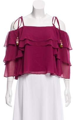 Rebecca Minkoff Ruffled Off-The-Shoulder Top