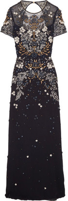 Jenny Packham - Cutout Embellished Tulle Gown - Navy $5,765 thestylecure.com