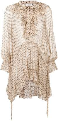 Zimmermann spotted pussy bow blouse