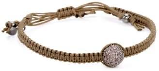 Tai Single Amethyst Crystal on Light Brown Cord Bracelet