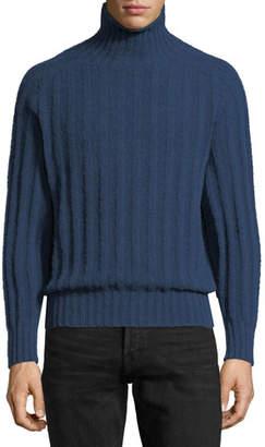 Tom Ford Brushed Cashmere Ribbed Turtleneck Sweater
