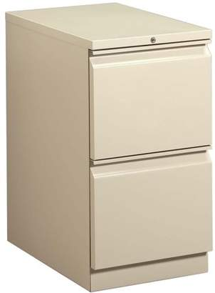 HON 2 Drawers Vertical Lockable Filing Cabinet, Putty