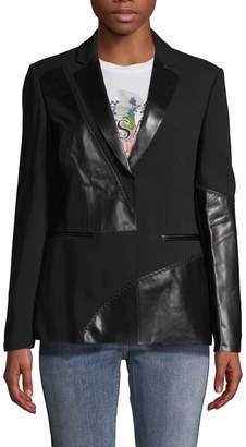 Versace Topstitched Peak Lapel Jacket