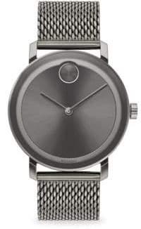 Movado Bold Round Ionic-Plated Grey Steel Bracelet Watch - Grey