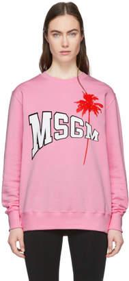 MSGM Pink Palm Sweatshirt