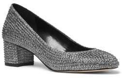 MICHAEL Michael Kors Arabella Glitter Chain Block Heel Pumps