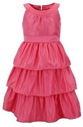 Emma Riley Girls' Satin Floral Party Dress