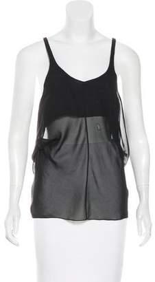 Balenciaga Semi-Sheer Sleeveless Top