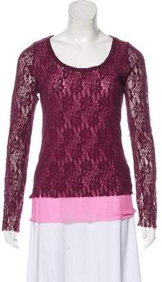 14eff494dfef3 Purple Lace Top - ShopStyle