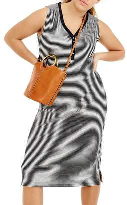 J.Crew J. Crew Sleeveless Henley Stripe Midi Dress