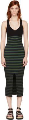 Opening Ceremony Black Striped Maxi Dress