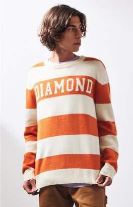 Diamond Supply Co Stripe Wool Crew Neck Sweater