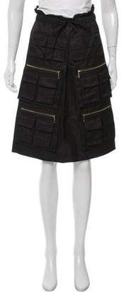 Vivienne Tam Wool-Accented Cargo Skirt w/ Tags