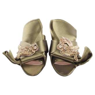 N°21 Green Polyester Sandals