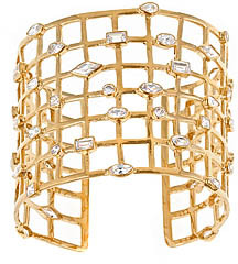 Melinda Maria Clear Cubic Zirconia Cage Cuff