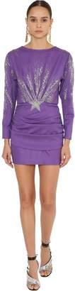 ATTICO Embellished Gabardine Mini Dress