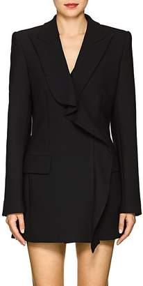 Area Women's Flora Ruffled Stretch-Twill Double-Breasted Blazer