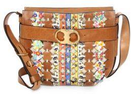 Tory BurchTory Burch Gemini Link Cutout Leather Crossbody Bag