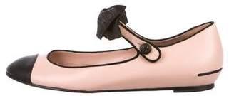 Chanel CC Mary Jane Flats