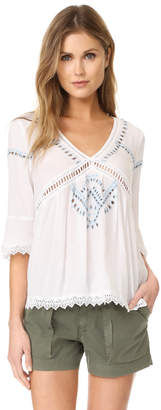 Ella Moss Broderie Anglaise Blouse $198 thestylecure.com