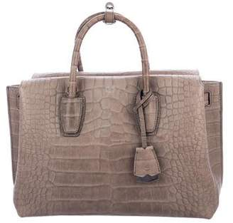 MCM Medium Milla Embossed Leather Tote