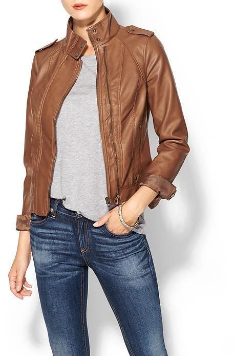 Juicy Couture Hive & Honey Vegan Leather Jacket