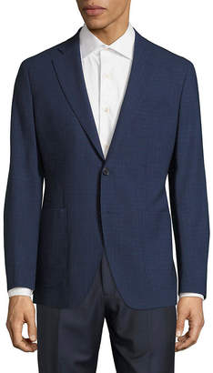 Saks Fifth Avenue Modern-Fit Wool & Linen Check Jacket