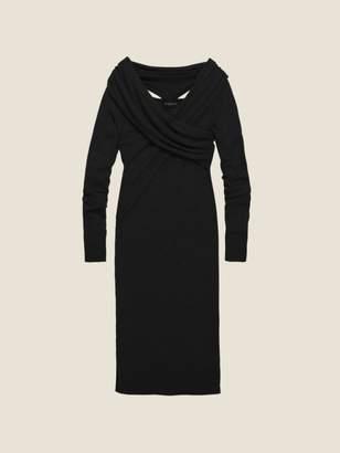 DKNY Wool Jersey Wrap Front Dress