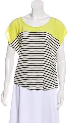 Joie Silk Striped Blouse