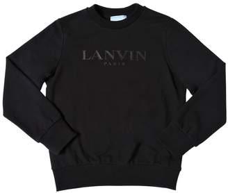 Lanvin Logo Print Cotton Sweatshirt