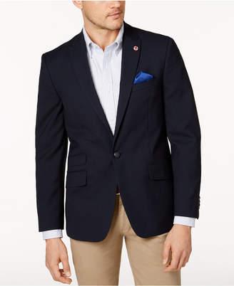 Ben Sherman Men's Slim-Fit Navy Textured Peak Lapel Blazer