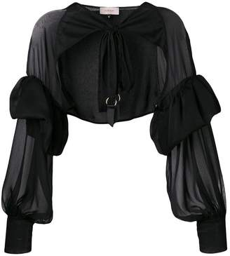 Murmur cropped sheer jacket