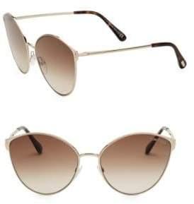 Tom Ford Zeila 60MM Cat Eye Sunglasses