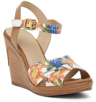 Johnston & Murphy Maren Cross Band Wedge Sandal