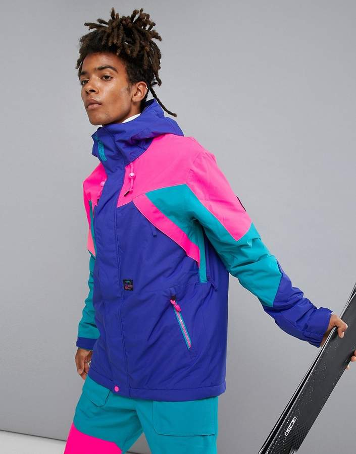 O'Neill Reissue 91 Extreme Ski Jacket in Purple