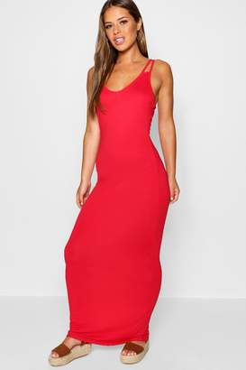 boohoo Petite Strappy Basic Maxi Dress