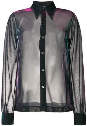 Maison Margiela sheer reflective shirt