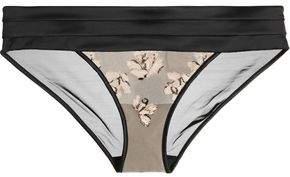Calvin Klein Underwear Ck Black Tempt Embroidered Stretch-Tulle And Satin Briefs
