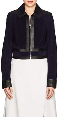Derek Lam WOMEN'S SUEDE & LEATHER CROP JACKET
