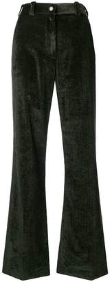 Moncler flared corduroy trousers