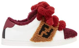 Fendi contrast low-top sneakers