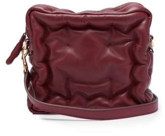 Anya Hindmarch Chubby Cube Leather Cross Body Bag - Womens - Burgundy