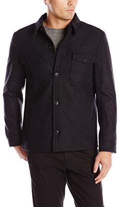 Haggar Men's Eastland Button-Front Jacket