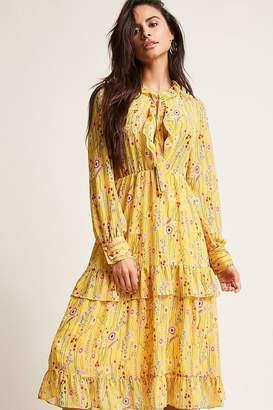 Forever 21 Tie-Neck Floral Dress