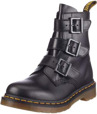 Dr. Martens Woman's Blake Leather Ankle Boots with Straps and Zip(IT) - 10(US)