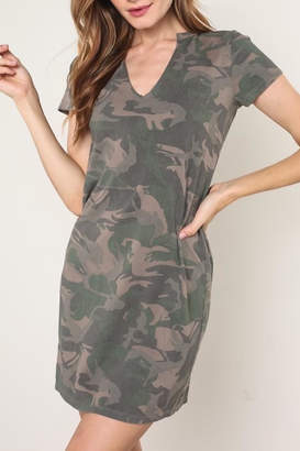 Apricot Lane Camo Tee Dress