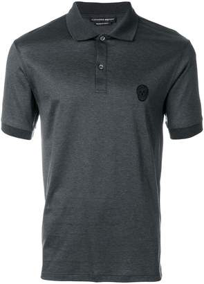 Alexander McQueen skull patch polo T-shirt