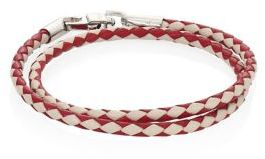 Bally Bally Woven Leather Bracelet