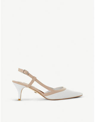 Dune Corraly leather slingback heels